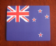 New Zealand Country Flag Hardtop Mouse Mat / Pad.